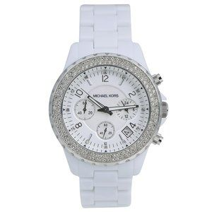 MICHAEL KORS Madison White MOP Chronograph Watch